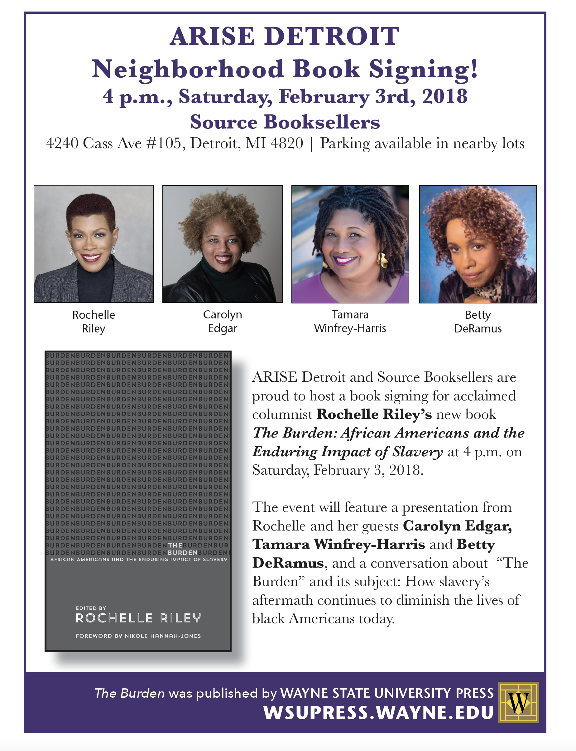 Rochelle Riley at Source Booksellers   Wayne State