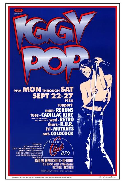 Iggy Pop Bookie S Club 870 Detroit Wayne State